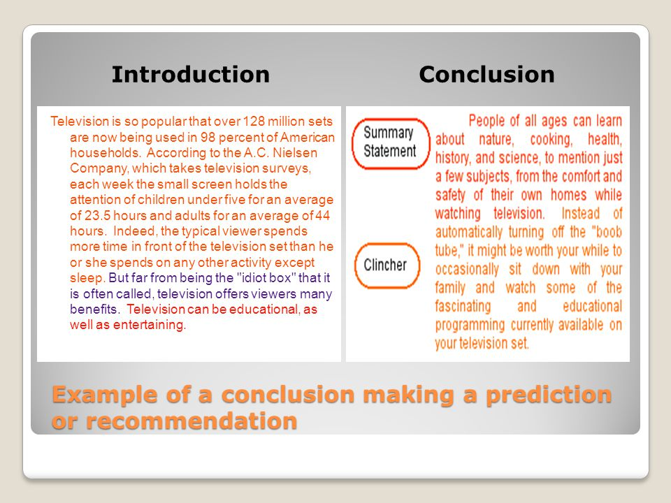 examining the predictions made in in information - Conclusion Of Essay Example
