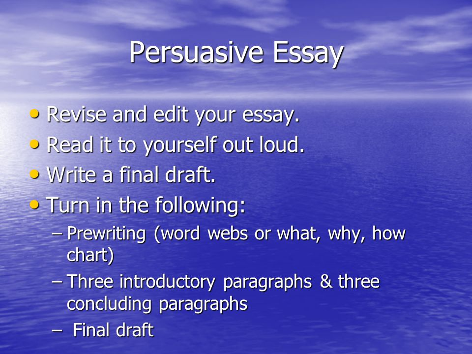 edit your essay Simple steps to writing, revising and editing an essay  your essay will have the same basic  here we will offer some tips on how to edit a paper or an essay.