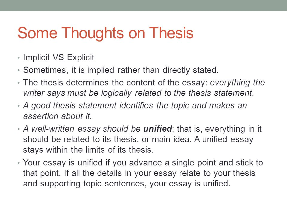 Building An Essay Basic Essay Structure  Ppt Video Online Download Some Thoughts On Thesis