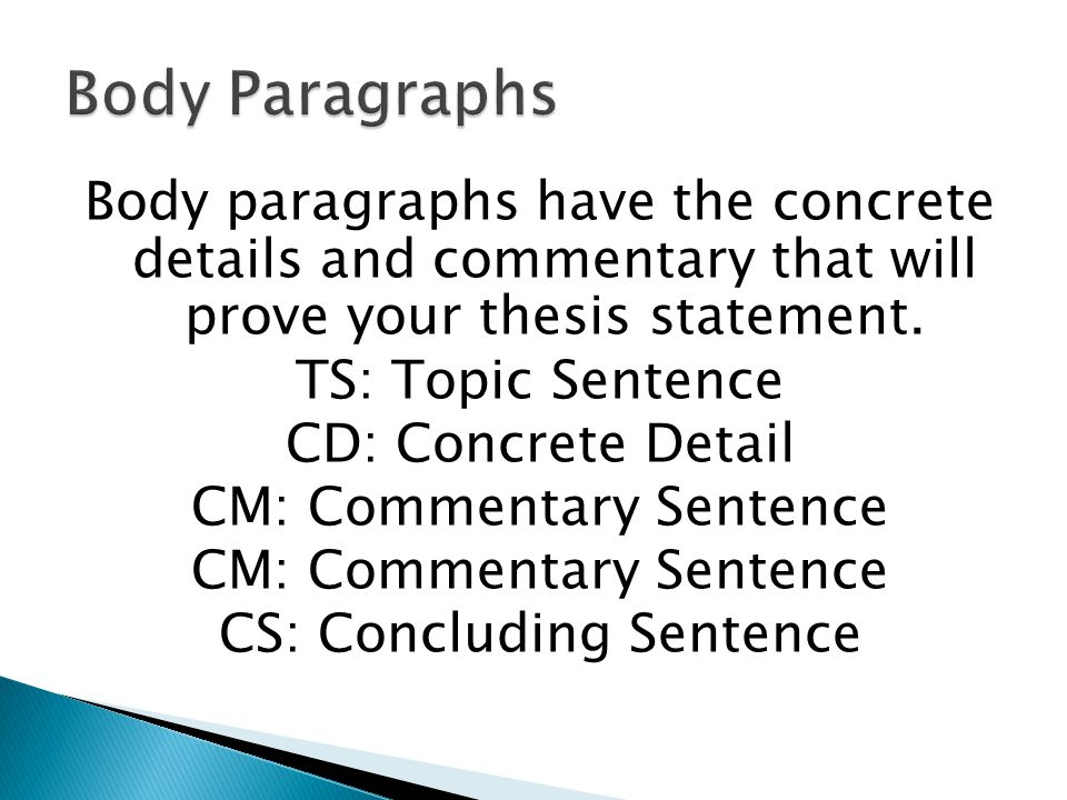 essay structure cd cm