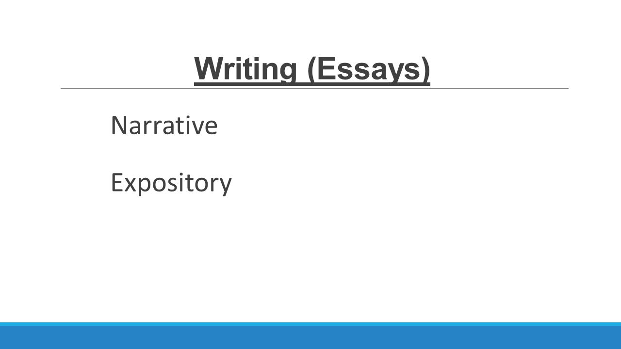 expository writing vs narrative writing