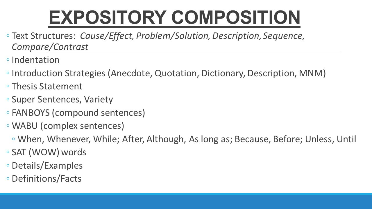compound complex thesis statement There are four different types of sentences: simple, compound, complex, and compound-complex it is important to become comfortable with each type, since a variety of sentence types signals a writer's skill and maturity.