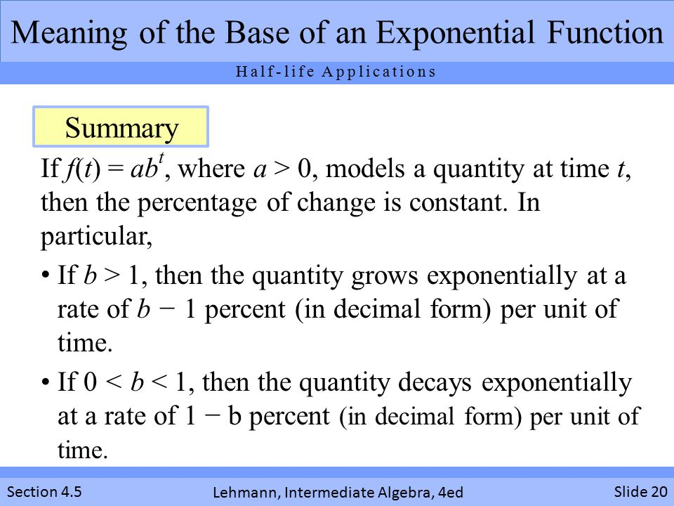 Using Exponential Functions - ppt video online download