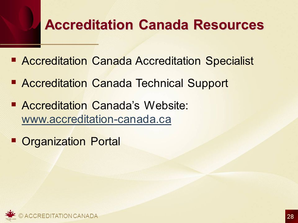 Accreditation Canada Resources