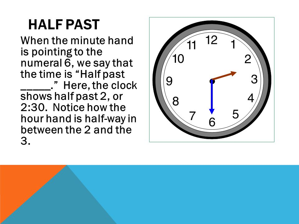 how to say half past in french