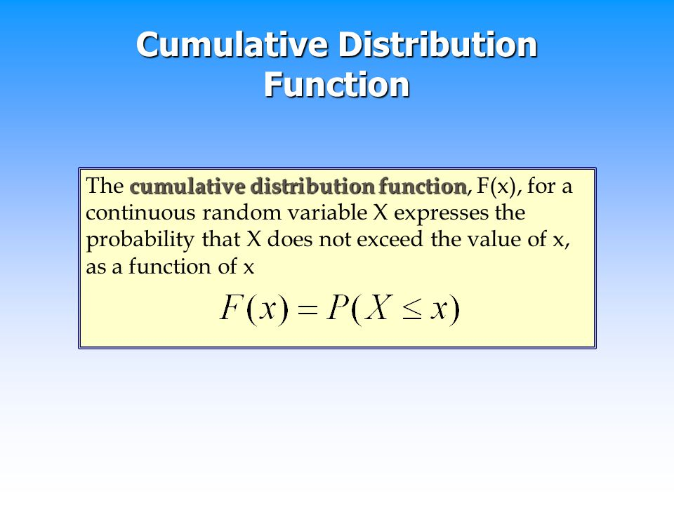 how to find probability from cumulative distribution function