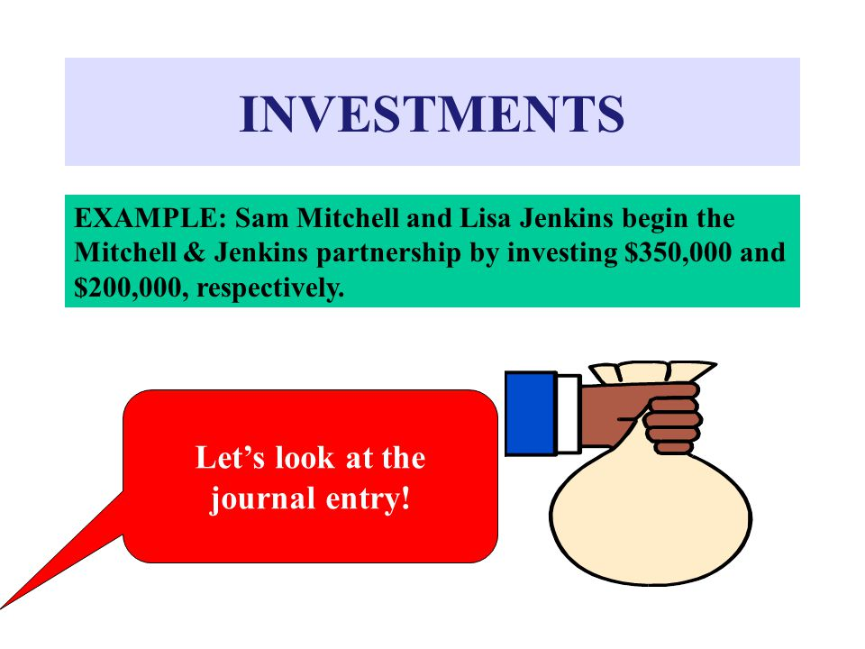 INVESTMENTS Let's look at the journal entry!