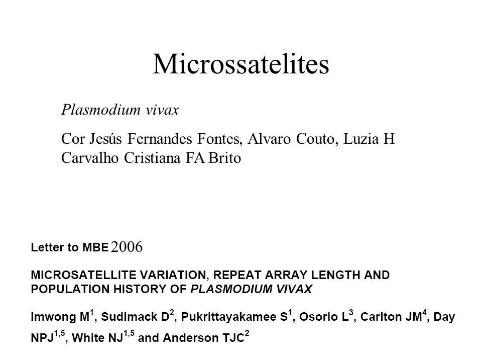 Microssatelites Plasmodium vivax