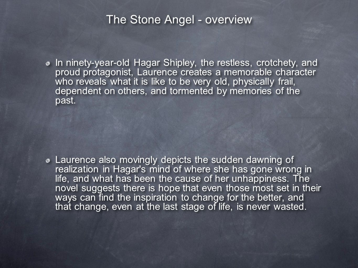 the introvert pride of hagar shipley the tragic hero of the stone angel Capable of becoming a tragic hero hagar, in the stone angel is a tragic flaw, which is her unconquerable pride hagar shipley was a very proud.