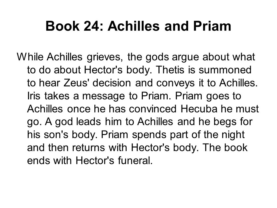 a comparison of achilles and hectors honor and pride in the iliad The iliad: theme analysis,  the iliad focuses much on achilles and his internal struggle with his personal will versus the will of zeus however,.