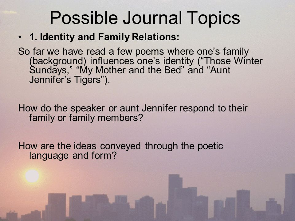 poetry life birth and death ppt possible journal topics