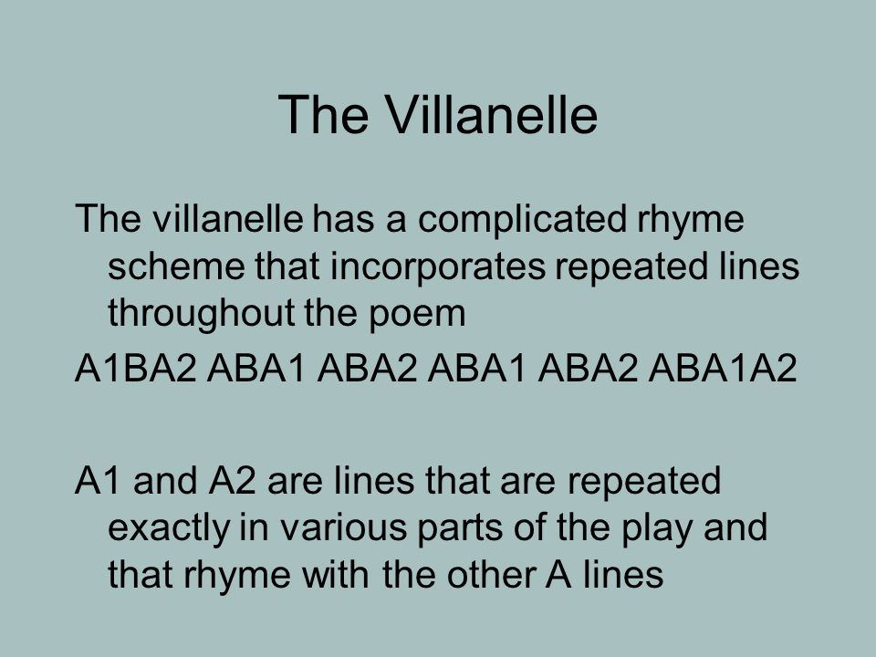 "the role of the structure of a villanelle in the poem do not go gentle into that good night by dylan Do not – for example ""good  villanelle a 19-line poem divided into five tercets and one quatrain probably the most famous english villanelle is dylan."