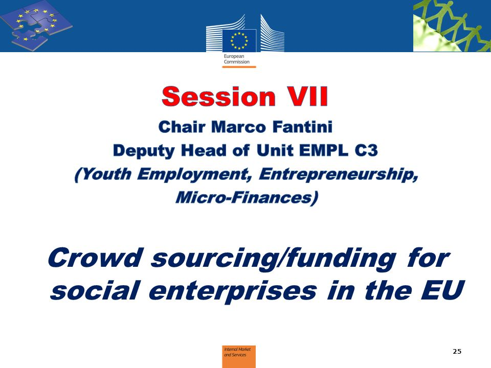 Session VII Crowd sourcing/funding for social enterprises in the EU