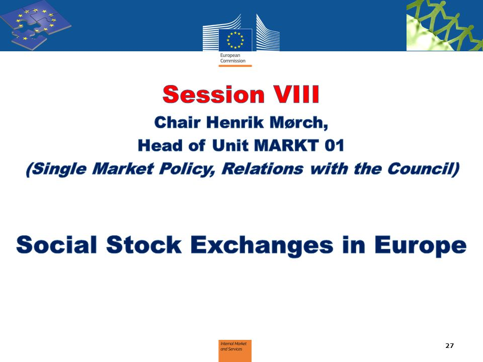 Session VIII Social Stock Exchanges in Europe