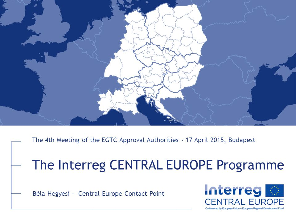 The Interreg CENTRAL EUROPE Programme