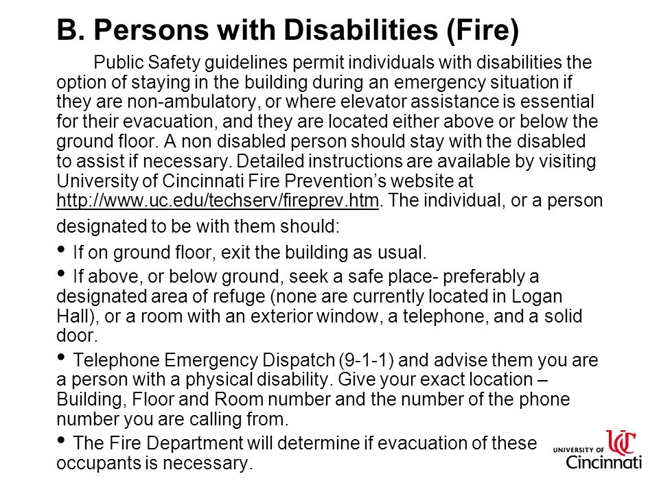 B. Persons with Disabilities (Fire)
