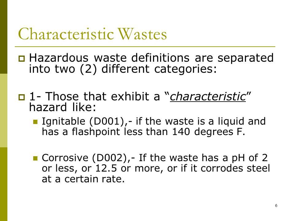 Rcra Hazardous Waste F