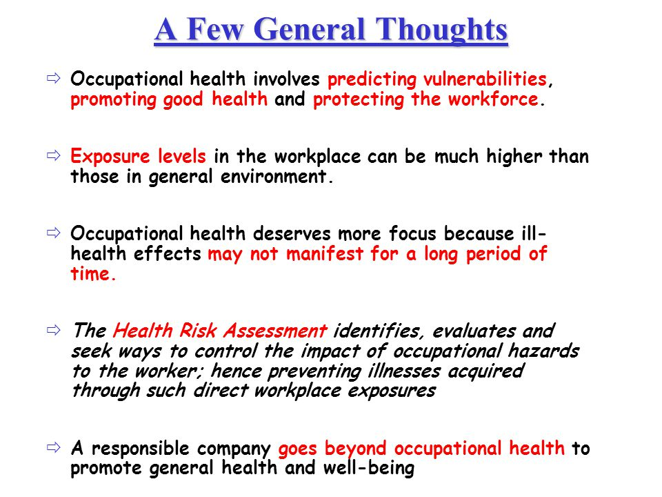occupational health industrial hygiene pdf