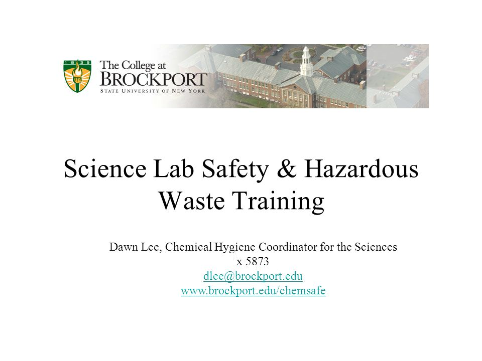 an evaluation of laboratory safety and hazardous materials class in university of missouri Laboratory safety bloodborne hazardous materials regularly, should read this booklet and complete the self new employee safety orientation.