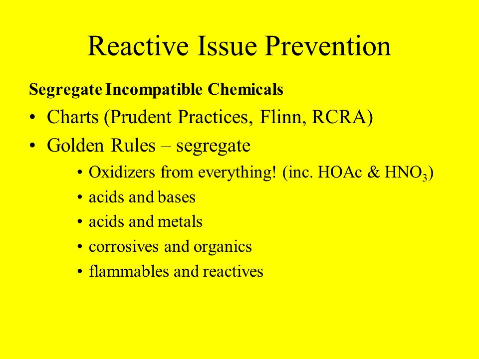 Reactive Issue Prevention