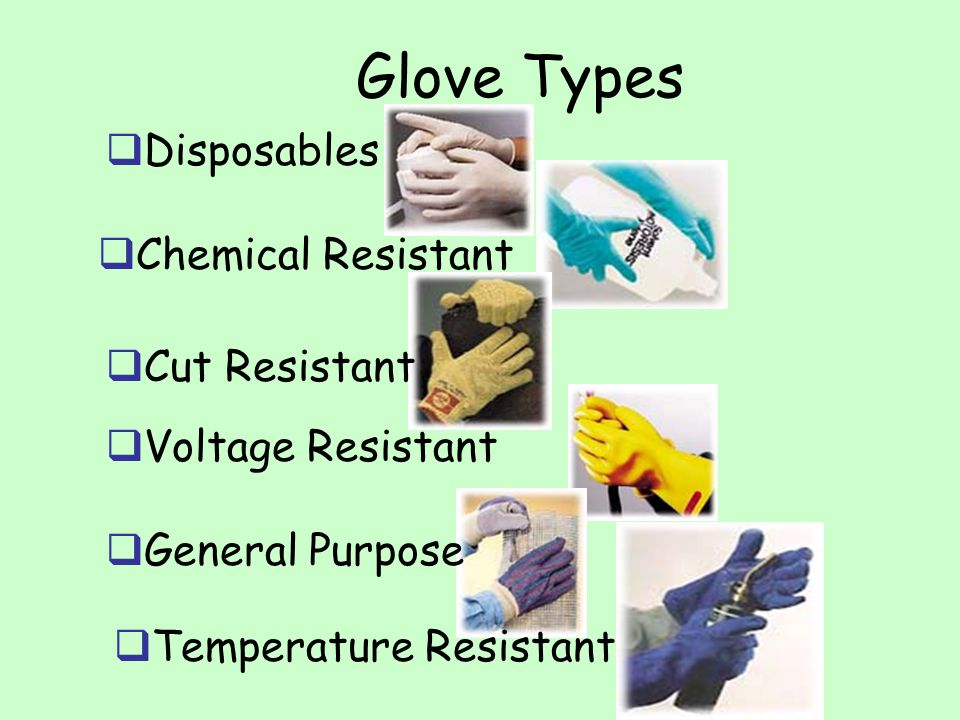 Glove Types Disposables Chemical Resistant Cut Resistant