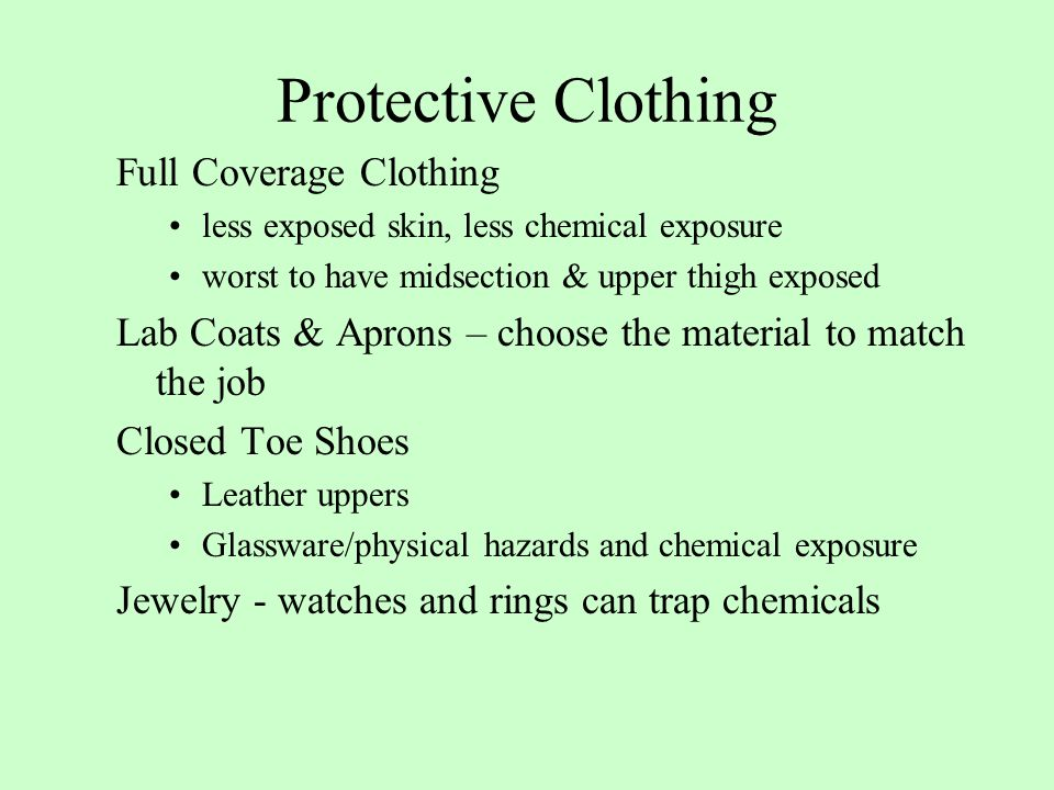 Protective Clothing Full Coverage Clothing