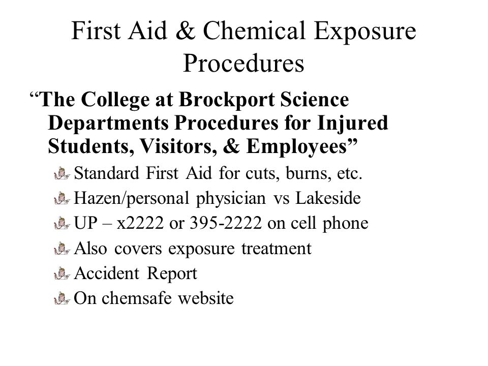 First Aid & Chemical Exposure Procedures