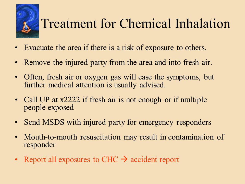 Treatment for Chemical Inhalation