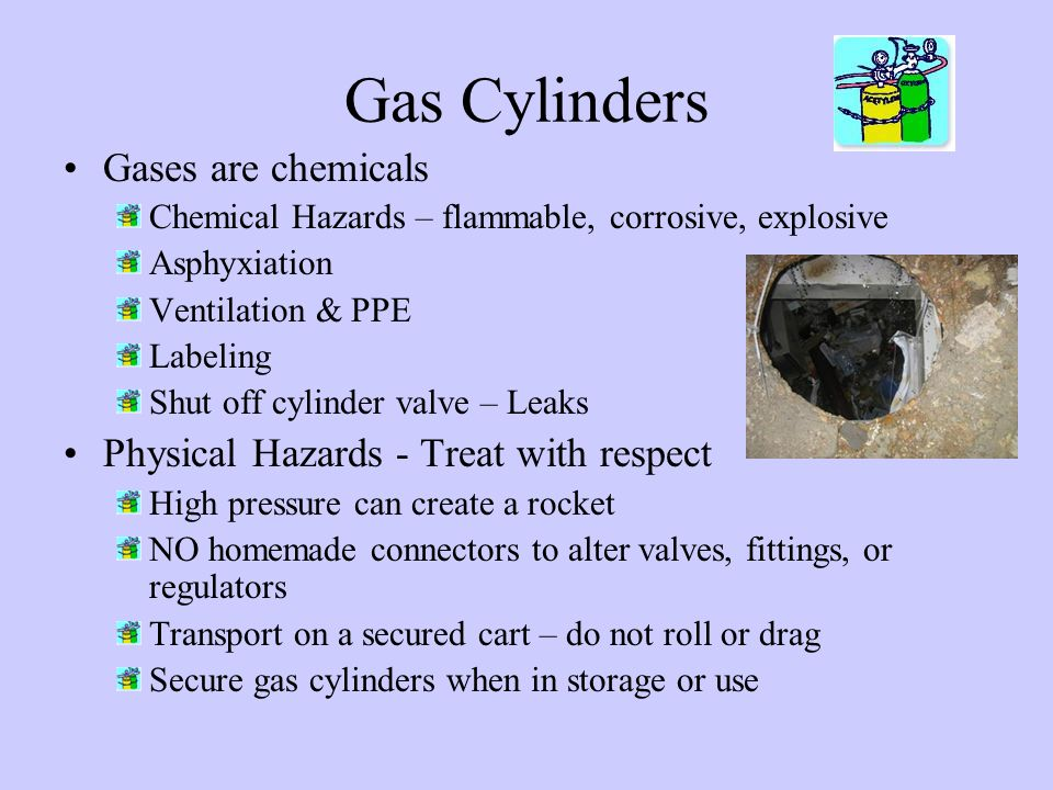 Gas Cylinders Gases are chemicals
