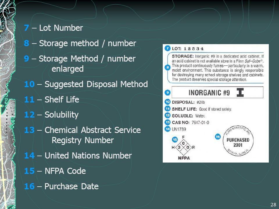 Lab equipment safety chemical labels nfpa hmis msds for Room design method nfpa 13