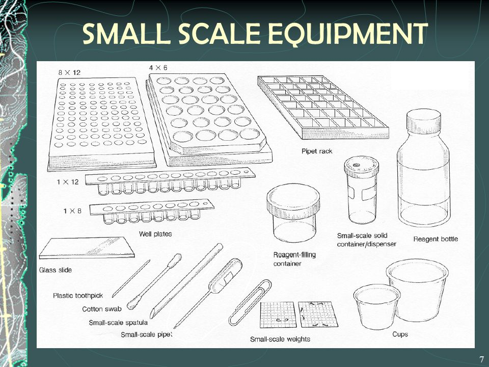 SMALL SCALE EQUIPMENT