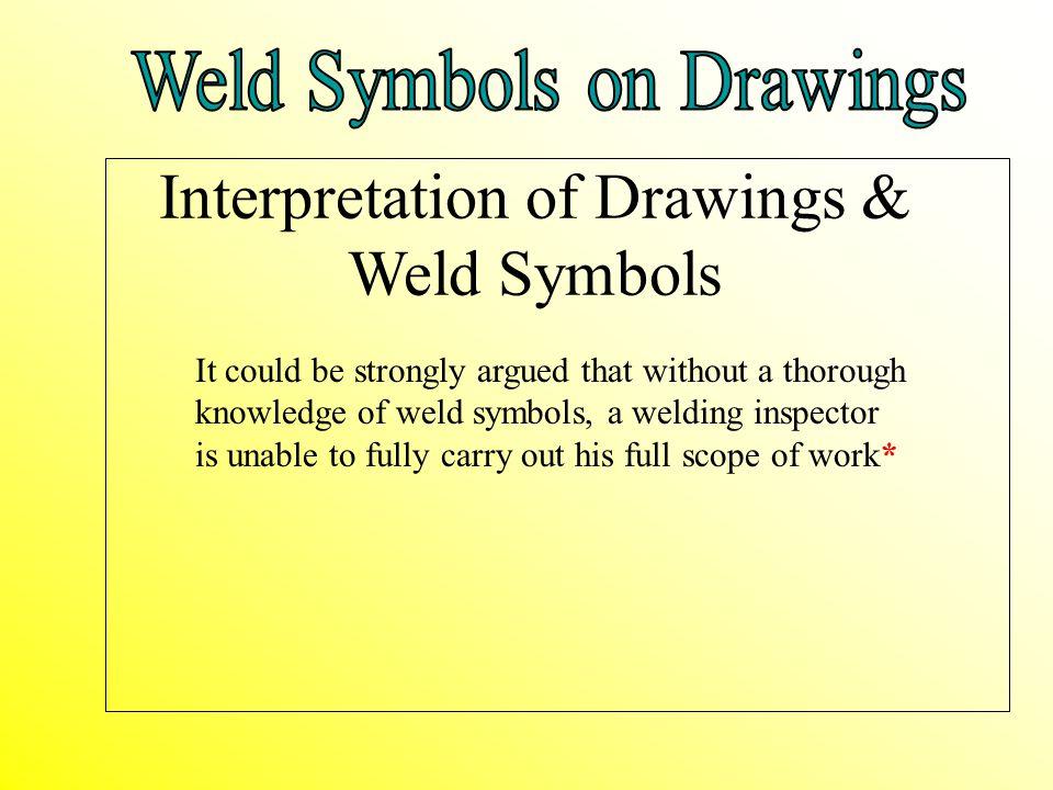 Interpretation of Drawings & Weld Symbols