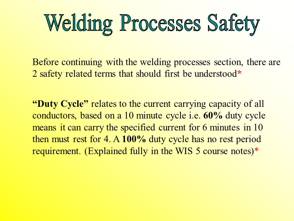 Welding Processes Safety