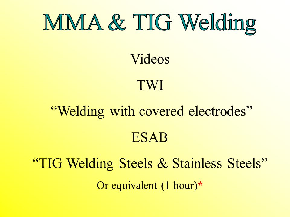 Welding with covered electrodes ESAB