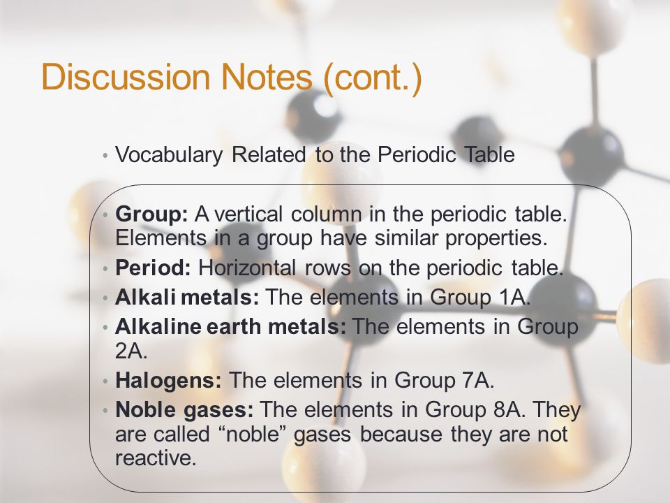 52 discussion - Periodic Table Of Elements Discussion