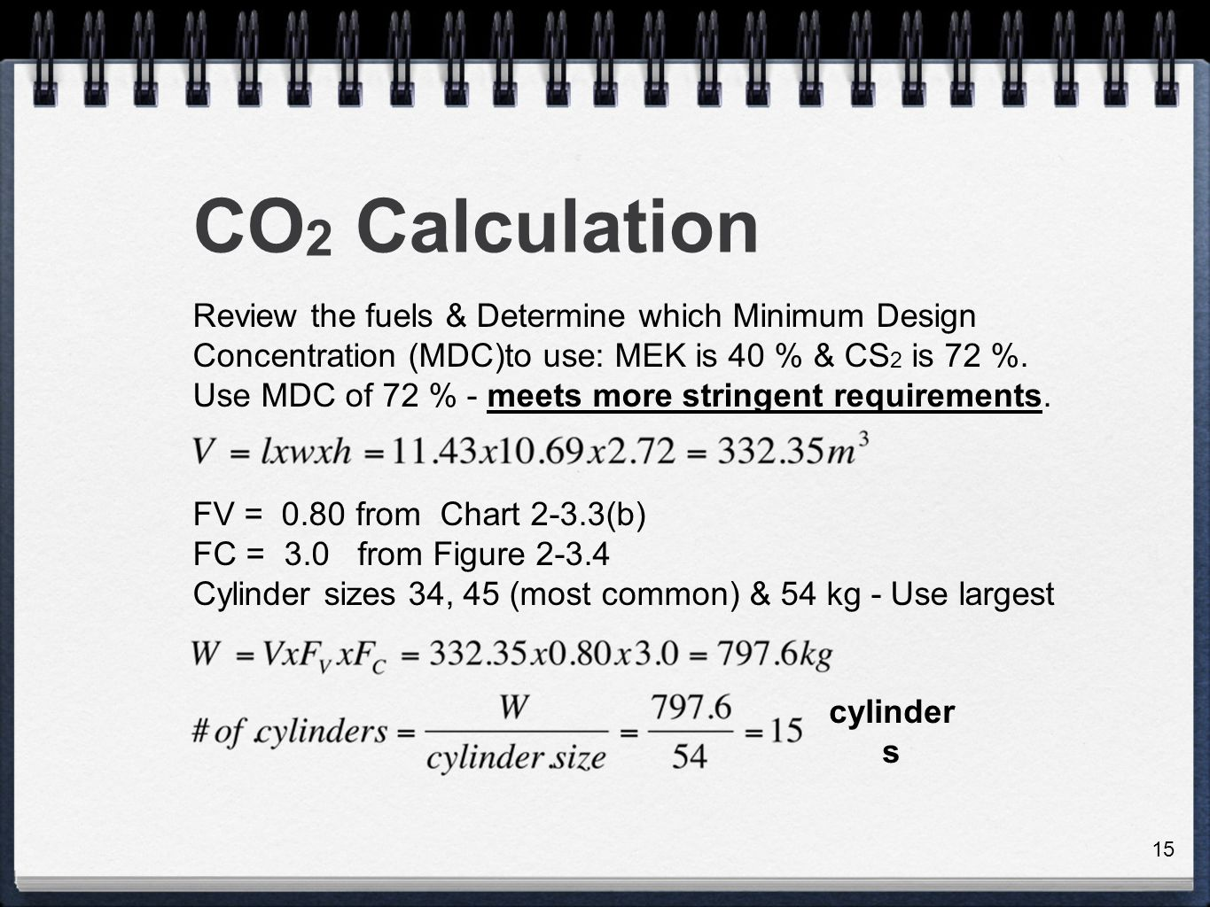 Total flooding systems ppt video online download 15 co2 calculation nvjuhfo Images