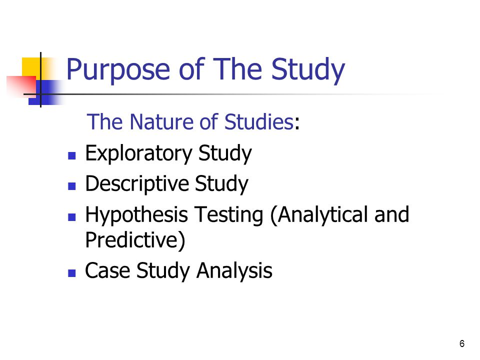 Relationship Between Purpose of Study and Data Analysis Techniques