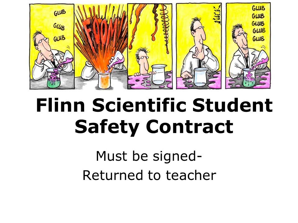 Flinn Scientific Student Safety Contract