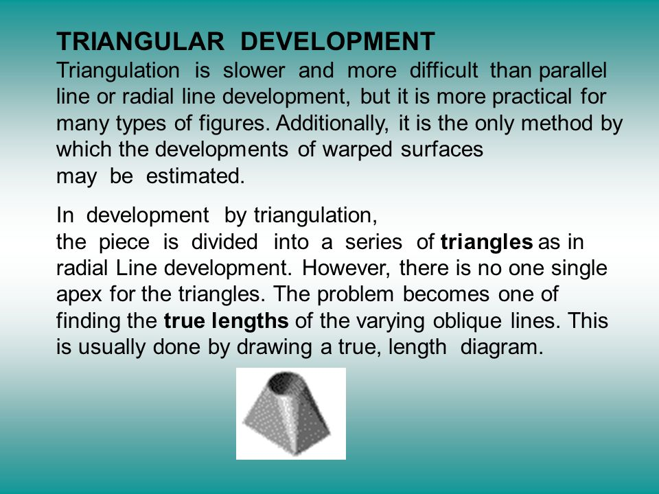 Types Of Line Drawing Algorithm : Development by triangulation ppt video online download