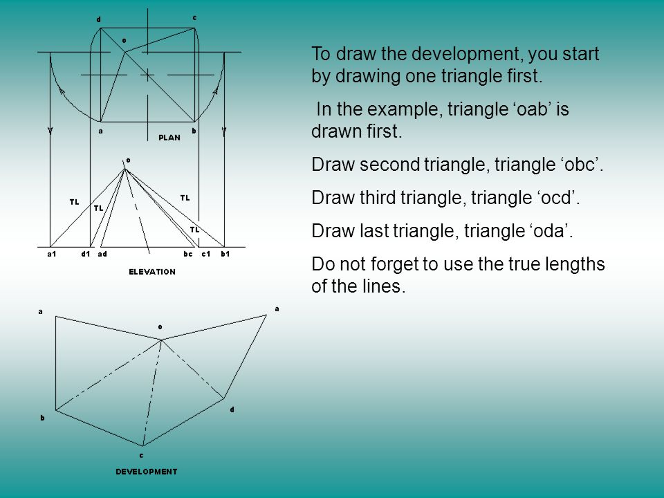 Dda Line Drawing Algorithm Numerical Example : Development by triangulation ppt video online download