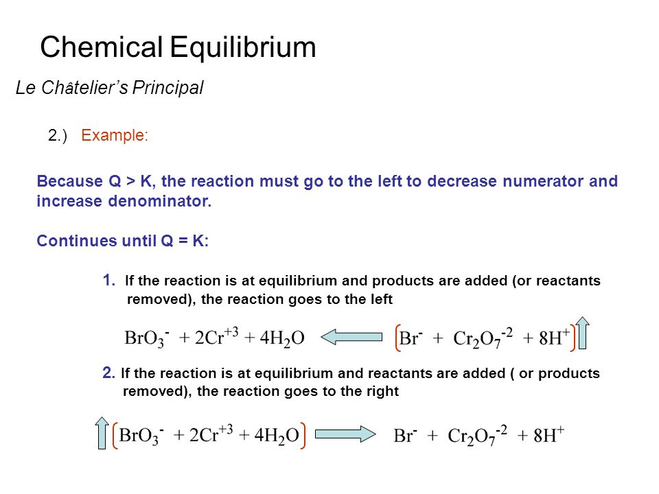 an introduction to the equilibrium in a chemical reaction In chapter 13 we were concerned with the question: will a given reaction ever   some chemical reactions appear to go essentially to completion, ending with.