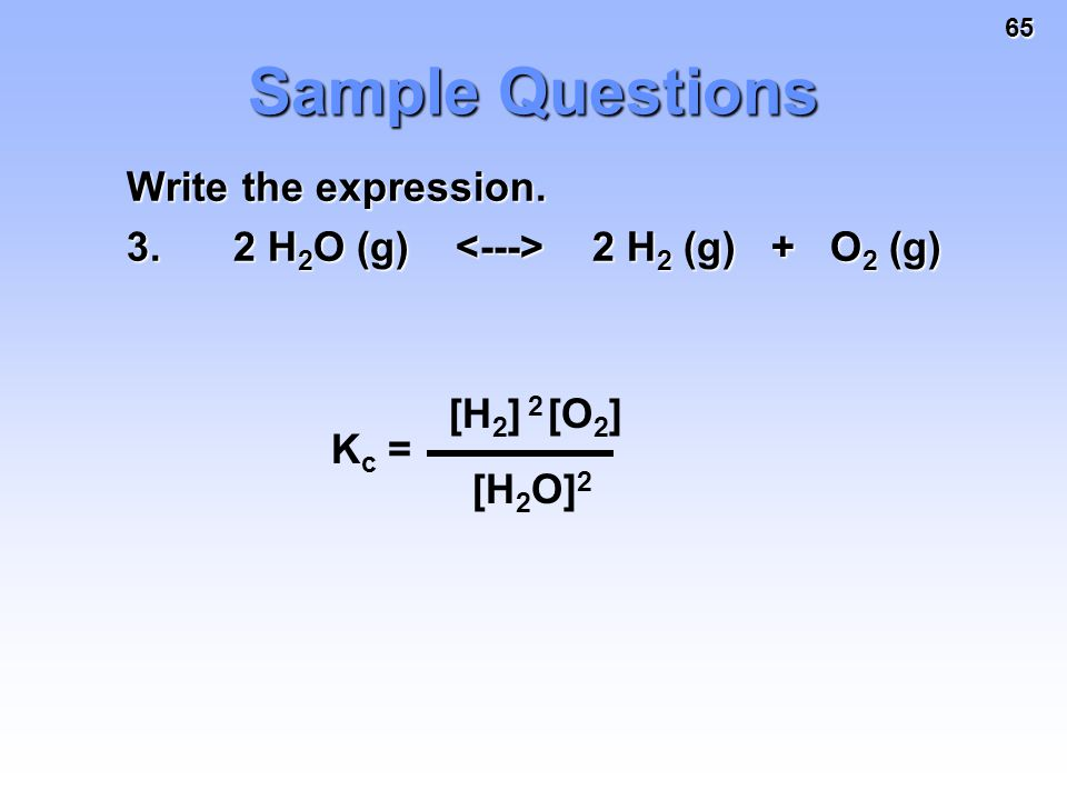 how to write a kc expression