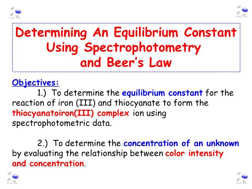 Determining an equilibrium constant essay | College paper