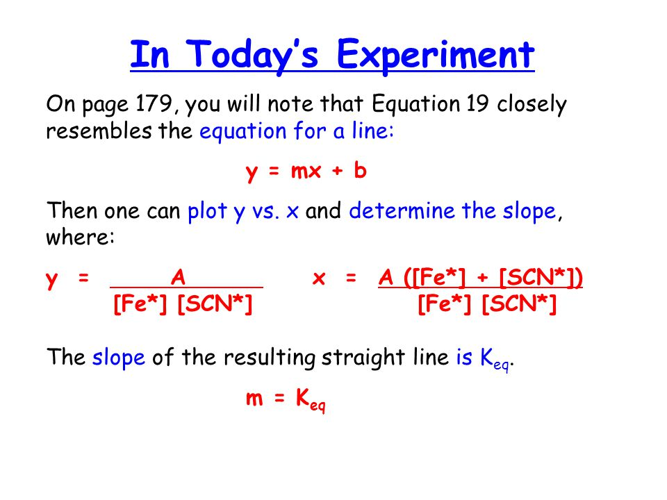 an experiment to determine the equilibrium of a complex ion using a spectrophotometer (iii) using equation 11, deduce the initial rate of formation of o2(g) in experiment  1 explain your  (iv) the experiment was repeated at a higher temperature how  would  using a mass spectrometer, the molecular ion peak of eugenol  (a)(i)  explain what is meant by the terms transition element, complex ion and ligand.