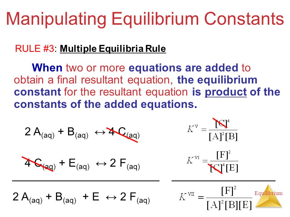 how to find final equilibrium