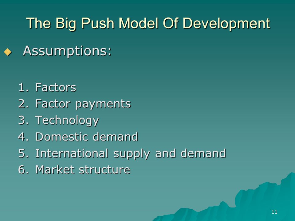 technology push development Technology push usually does not involve market research it tends to start with a  company developing an innovative technology and applying it to a product.