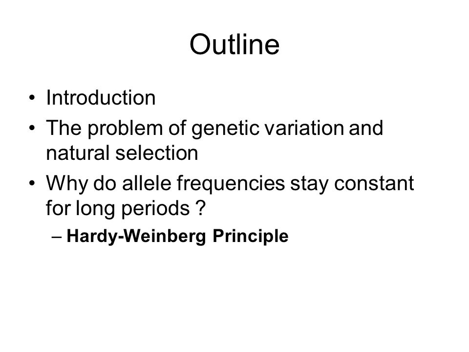 gene frequencies and the hardy weinberg No gene flow equal allele frequencies between graphical representation of hardy-weinberg law frequencies and genotype frequencies under hardy-weinberg.