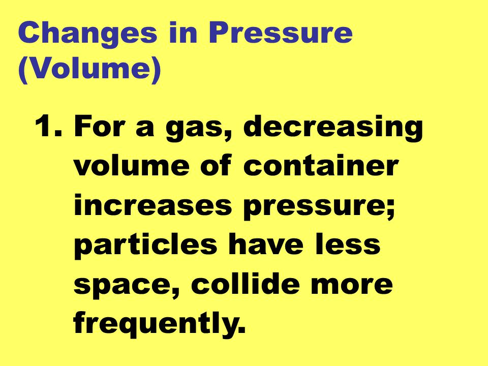 Changes in Pressure (Volume)