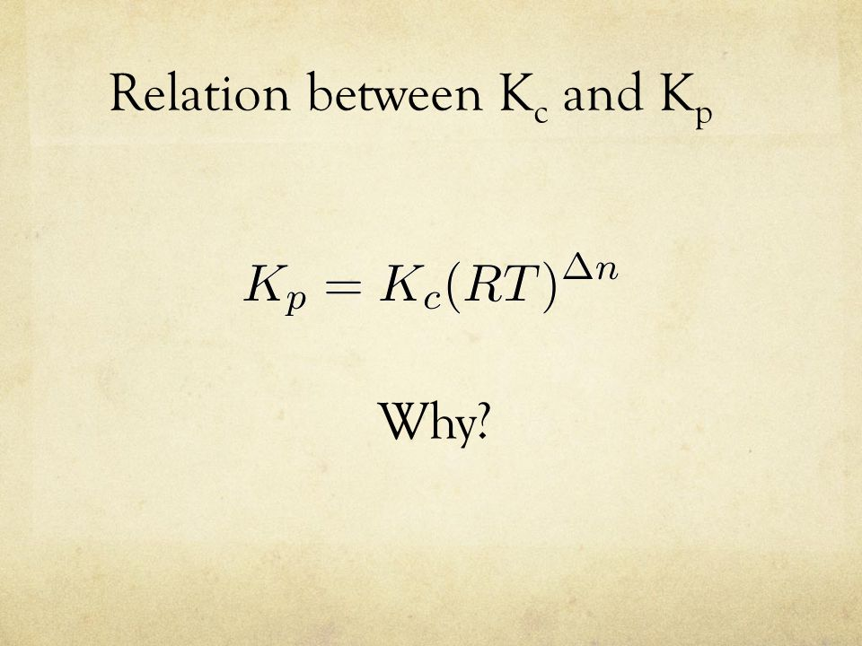 relation between kc and kp relationship