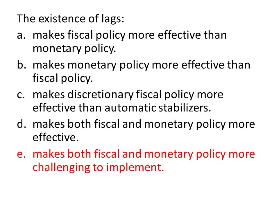 Top 5 Types of Lags in the Monetary Policy